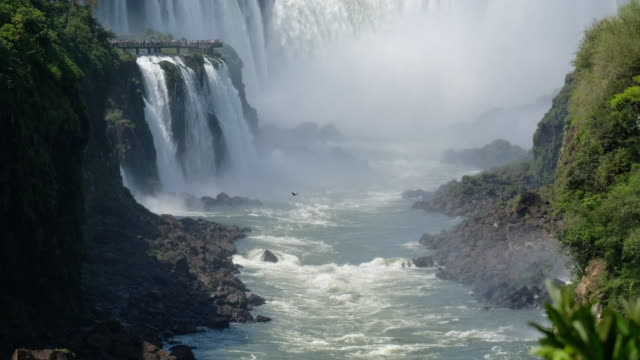 iguazu waterfalls garganta del diablo - uruguay video stock e b–roll
