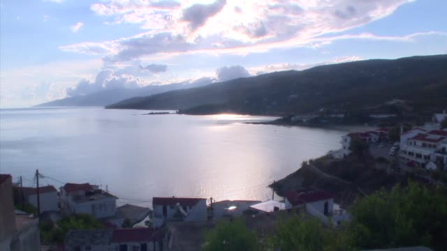 ikaria a beautiful sleepy island is one of the blue zones of the world a place where people live the longest and with the highest percentages of... - greek islands stock videos and b-roll footage