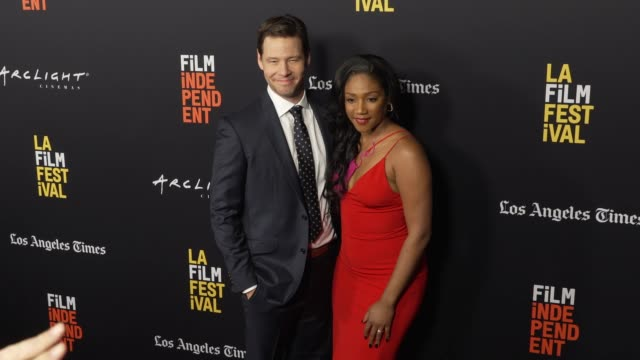 "vídeos de stock, filmes e b-roll de ike barinholtz and tiffany haddish at the ""the oath"" world premiere - los angeles film festival at arclight hollywood on september 25, 2018 in... - festival de cinema de toronto"