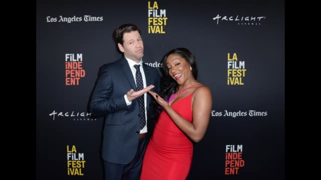 Ike Barinholtz and Tiffany Hadish attend LA Film Festival World Premiere Gala Screening Of THE OATH on September 25 2018 in Los Angeles California