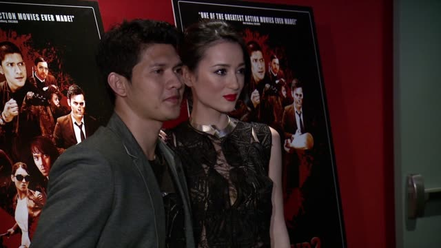 Iko Uwais and Julie Estelle at The Raid 2 New York Screening at Sunshine Landmark on March 17 2014 in New York City