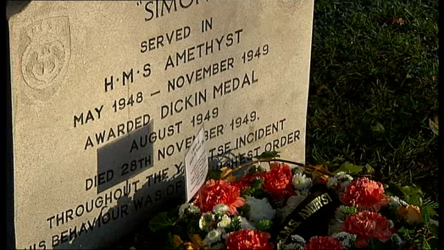 ilford animal cemetery refurbished with itv's people's millions winnings headstone of cat 'simon' lieutenant commander stewart hett interview sot - winnings stock videos and b-roll footage