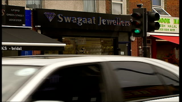 ilford jewellery robber sentenced; general view of swagaat jewellers - ilford stock videos & royalty-free footage