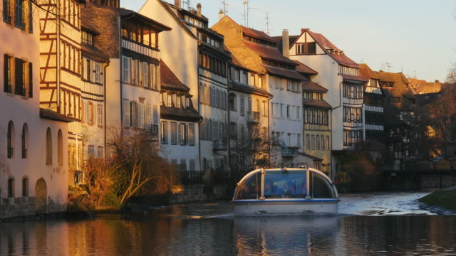 Ill River at old town Petite France, Strasbourg, France