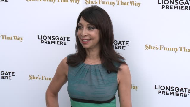 """illeana douglas at the """"she's funny that way"""" los angeles premiere at harmony gold theatre on august 19, 2015 in los angeles, california. - she's funny that way点の映像素材/bロール"""