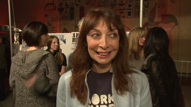 illeanna douglas on the event the music of 'anvil' what she listened to in the 80's at the 'anvil the story of anvil' premiere at los angeles ca - anvil the story of anvil stock videos and b-roll footage