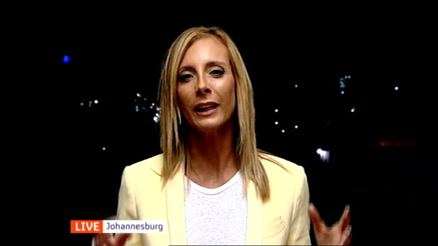 illegal gold miners remain underground; england: london: gir: int debora patta live studio interview from johannesburg sot - 犯罪点の映像素材/bロール