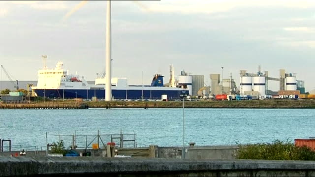 illegal immigrant found dead in container aboard freight ferry at tilbury docks england essex tilbury ext various shots norstream ship along at docks... - outpatient care stock videos & royalty-free footage