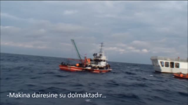 131 illegal immigrants are rescued by coast guards from fishing boat which is faced danger of capsizing in mersin a city in mediterranean region of... - mediterranean turkey stock videos and b-roll footage
