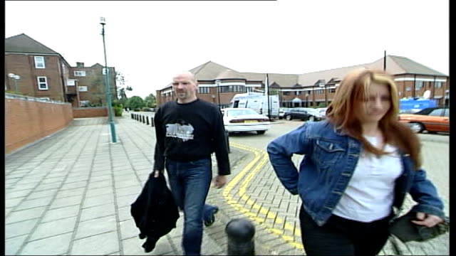 vídeos de stock, filmes e b-roll de gang of smugglers jailed itn england kent canterbury paul slatermason arriving at court for trial in connection with his involvement in the smuggling... - smuggling