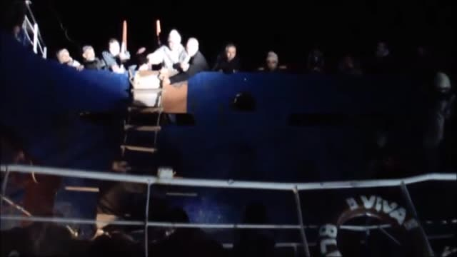 333 illegal immigrants seeking to arrive european countries on a merchant vessel were caught as they sail with fishing boats to reach the merchant... - mediterranean turkey stock videos and b-roll footage