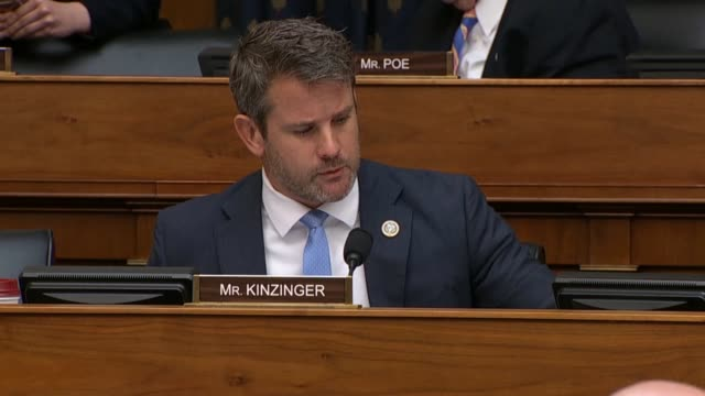 Illinois Congressman Adam Kinzinger tells Secretary of State Mike Pompeo at a House foreign affairs committee that he understood energy issues asking...