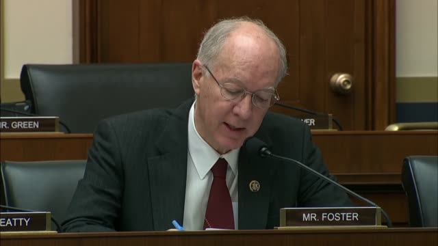 illinois congressman bill foster explains at a house financial services committee hearing with treasury secretary steven mnuchin he had introduced... - big tech stock videos & royalty-free footage