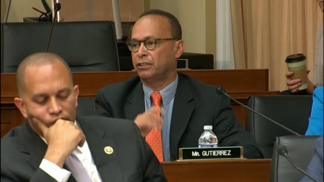 Illinois Congressman Luis Gutierrez engages Attorney General Loretta Lynch at an oversight hearing of the House Judiciary Committee saying that...