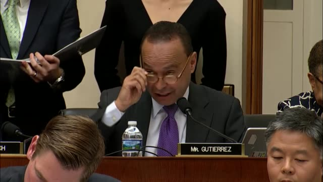 Illinois Congressman Luis Gutierrez questions Attorney General Jeff Sessions at an oversight hearing before the House Judiciary Committee about...