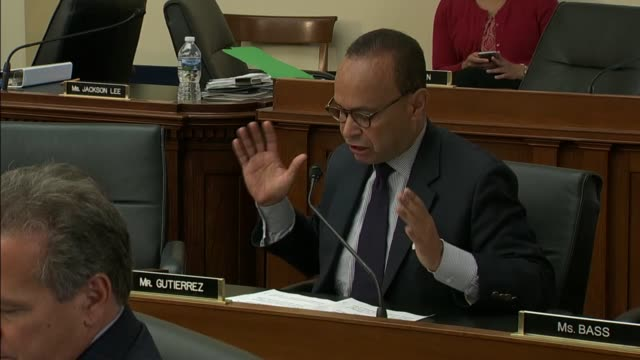 illinois congressman luis gutierrez spends his allotted time at a meeting of the house judiciary committee to hear from irs commissioner john... - posture stock videos and b-roll footage