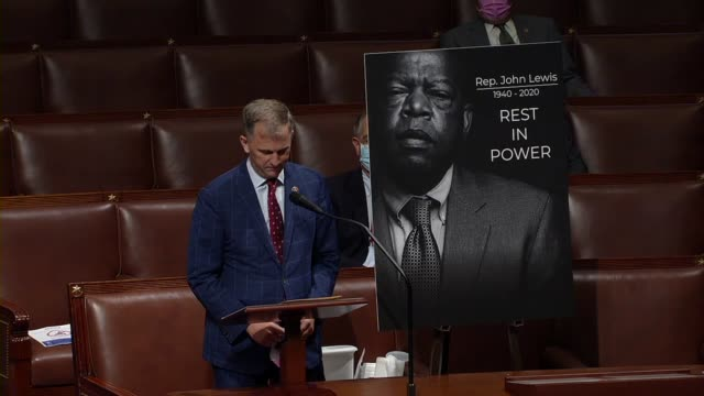 illinois congressman sean casten says during floor time for speeches in memoriam to civil rights icon john lewis that lewis the legend would pull him... - {{relatedsearchurl(carousel.phrase)}} video stock e b–roll