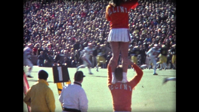 1976 illinois michigan football game - marching band stock videos & royalty-free footage