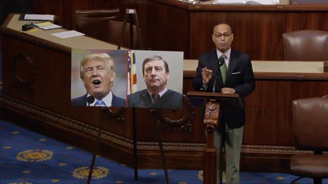 Illinois Representative Luis Gutierrez opens saying that there seems to be a sinister antiimmigration arms race breaking out in the party of Trump...