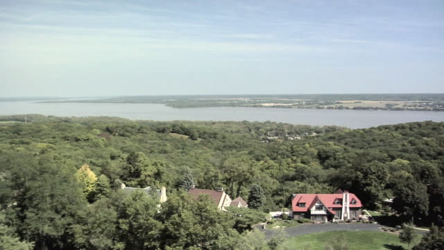 HA WS PAN Illinois river seen from Observation Tower at Peoria Heights, Illinois, USA
