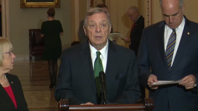 illinois senator dick durbin asks reporters at a weekly press conference i'll explain the first ten months of the year with only 21 amendments and... - dick durbin stock videos & royalty-free footage