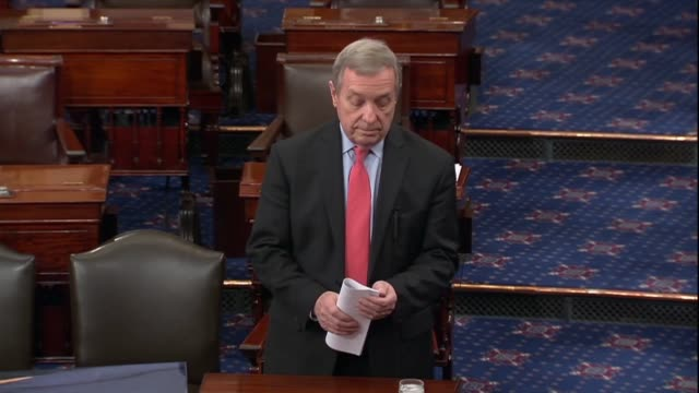 illinois senator dick durbin calls it a sad reality that hundreds of thousands of young people live in fear of deportation he was at a loss until... - dick durbin stock videos & royalty-free footage