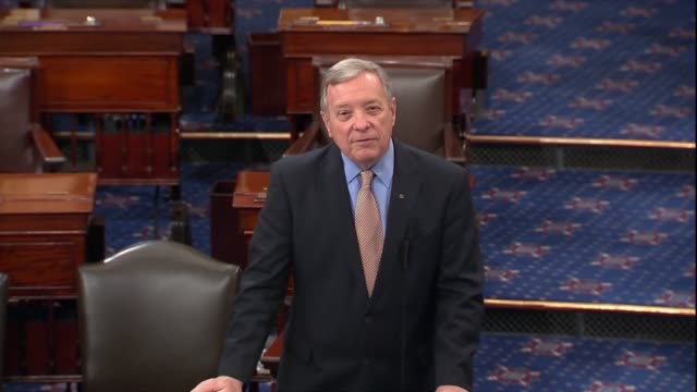 illinois senator dick durbin pleads with the republican leader to put a bipartisan criminal justice reform bill on the senate calendar with strong... - senator stock videos & royalty-free footage