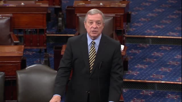 illinois senator dick durbin quotes senator mcconnell as wanting to plow through the nomination of judge brett kavanaugh to the supreme court not a... - dick durbin stock videos & royalty-free footage