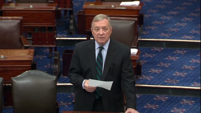 illinois senator dick durbin says in a floor speech after press reports of a whistleblower complaint about a phone request by president donald trump... - dick durbin stock videos & royalty-free footage