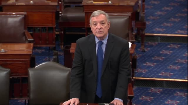 illinois senator dick durbin says in opposition to federal judge nominee thomas alvin farr that the grim reality was that republicans had decided... - population explosion stock videos and b-roll footage