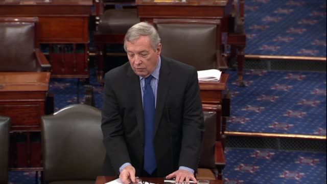 illinois senator dick durbin says in the 21st century still battling over issues that divided the nation in civil war why the senate would give... - dick durbin stock videos & royalty-free footage