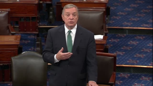 illinois senator dick durbin says legislation is coming forward on the healthcare issue in many had hoped the committee would use the opportunity to... - dick durbin stock videos & royalty-free footage