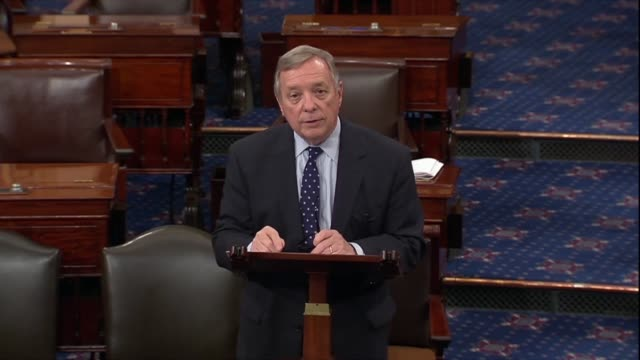 illinois senator dick durbin says minutes after president donald trump announced that the us would withdraw from the iran nuclear agreement that... - dick durbin stock videos & royalty-free footage