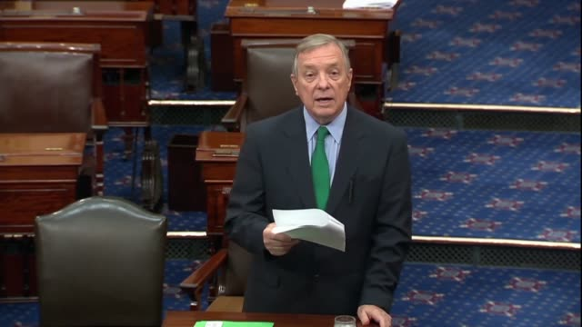 illinois senator dick durbin says on the floor that the fda is needed to better regulate ecigarette devices easily tampered with and used in... - dick durbin stock videos & royalty-free footage