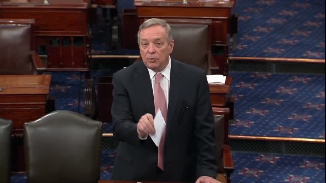illinois senator dick durbin says prescription drug humalog and increased from $21$275 unless one lives in canada where the same drug is $39 asking... - vulnerability stock videos and b-roll footage