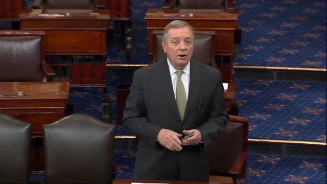 illinois senator dick durbin says senator mcconnell argued president barack obama had no authority to nominate to a supreme court vacancy but rather... - dick durbin stock videos & royalty-free footage