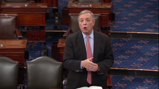 illinois senator dick durbin says to be honest that political rhetoric was coarsening since the election of president donald trump with things said... - dick durbin stock videos & royalty-free footage