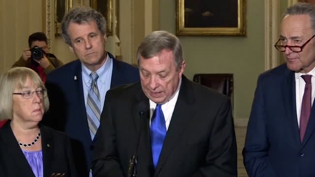 illinois senator dick durbin tells reporters and some people look at a donut and see just the hole but he does not durbin says after a three day... - 16 17 years stock videos & royalty-free footage
