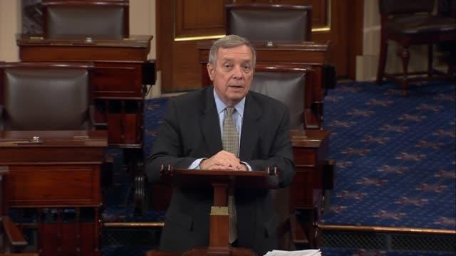 Illinois Senator Richard Durbin argues against a Republicanled health care reform effort hours after a dramatic vote to proceed to legislation Durbin...