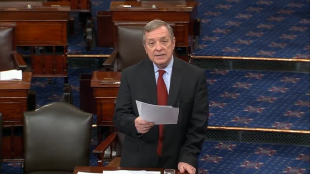 illinois senator richard durbin argues that president donald trump has a problem with lashing out at critics reckless behavior in that office adding... - united states presidential election stock videos & royalty-free footage