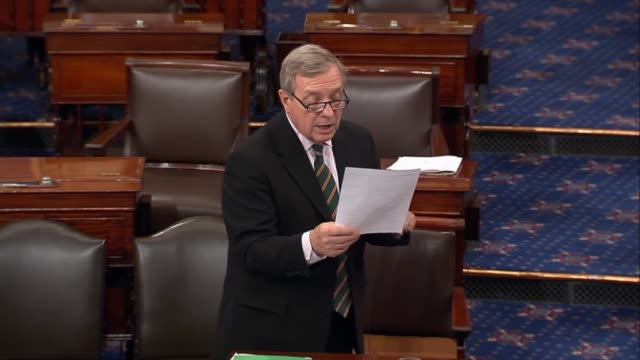 illinois senator richard durbin reacts to projections issued by the congressional budget office on an amended american health care act passed by the... - substance abuse stock videos and b-roll footage
