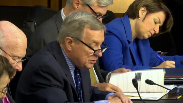 illinois senator richard durbin says at a hearing of the senate judiciary committee with border protection and immigration law enforcement of... - senate judiciary committee stock videos & royalty-free footage