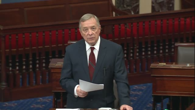 illinois senator richard durbin says in senate floor remarks about introducing a constitutional amendment to guarantee an individual right to vote... - uphill stock videos & royalty-free footage