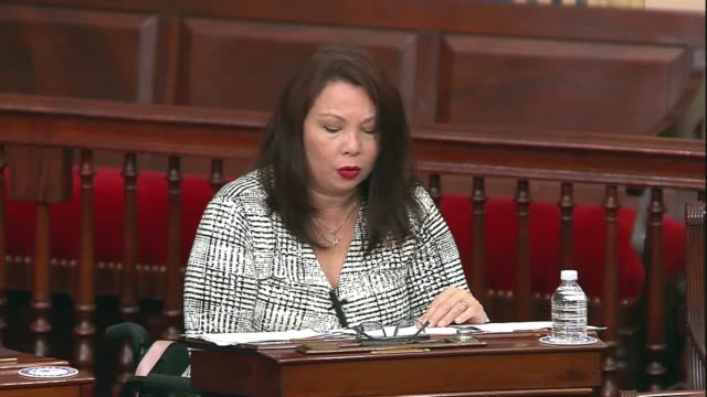illinois senator tammy duckworth asks rhetorically in senate floor remarks about legislating against the coronavirus pandemic if americans with... - inch stock videos & royalty-free footage
