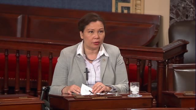 Illinois Senator Tammy Duckworth engages in the floor debate over the nomination of Judge Neil Gorsuch to sit on the Supreme Court discussing women's...