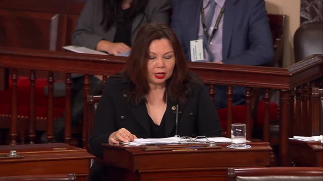 illinois senator tammy duckworth opposes the nomination of oklahoma attorney general scott pruitt to be the administrator of the environmental... - attorney general stock videos & royalty-free footage