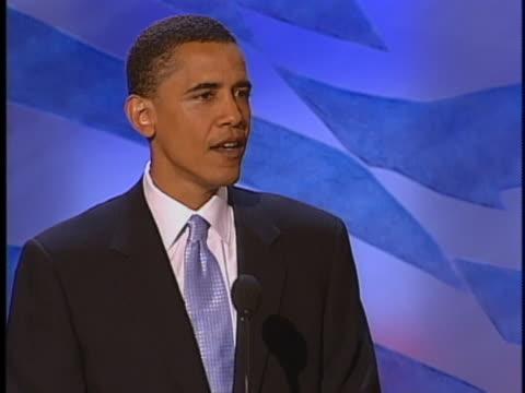 illinois senatorial candidate barack obama addresses the 2004 democratic national convention. - boston massachusetts stock videos & royalty-free footage