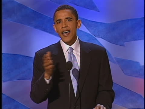 illinois senatorial candidate barack obama comments on his ancestry during speech at the 2004 democratic national convention. - 2004 stock videos & royalty-free footage