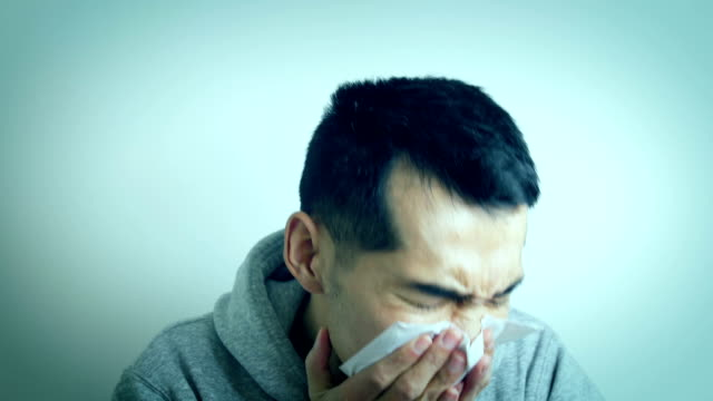 illness young man coughing - corona virus stock videos & royalty-free footage