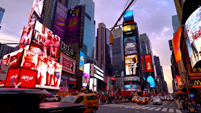 illuminatad road, street, traffic, car - times square manhattan stock videos & royalty-free footage